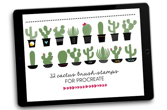 Cactus Brush Stamps for Procreate