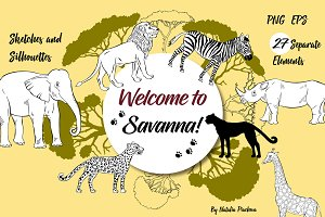 Savanna Animals clip art