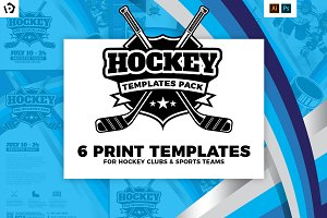 Ice Hockey Templates Pack