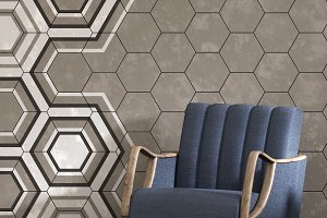 3d render of beige interior with