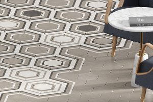 3d render of beige floor tile with