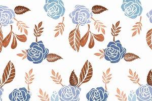 Composición con flores estampadas