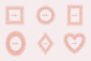 Luxury Pink Gold Glitter Frame Set