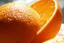 Citrus fruit arrangement on wood