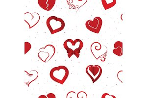 Heart on valentines day in love