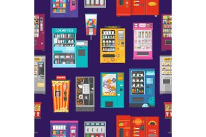 Vending machine vector vend food or