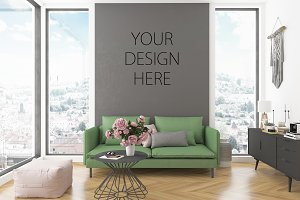 Interior mockup artwork background