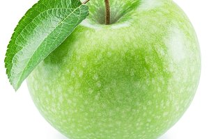 Ripe green apple fruit.