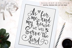 As for me and my house SVG DXF EPS
