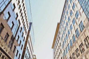 Look Up Between Buildings