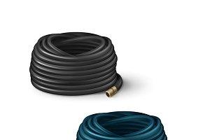 Rolled hoses for garden