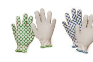 Pairs of gardening work gloves