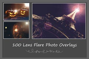 100 Lens Flare Photo Overlays