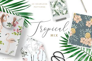 Tropical mix. 24 patterns
