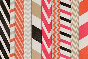Color Crush 21 {shabby chevrons}