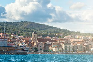 Vodice, Croatia view from the sea