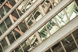 Glass Skyscraper Building Facade wit