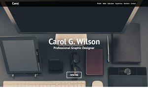Carol Personal Portfolio - PSD