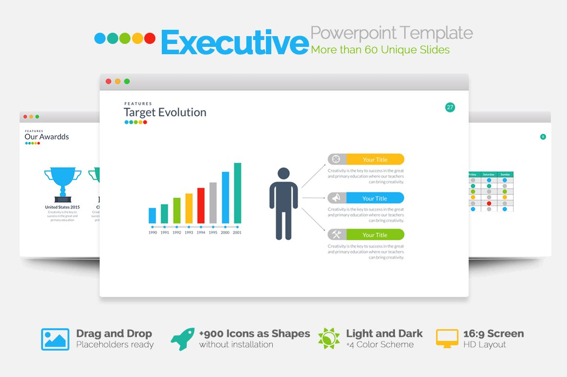 executive powerpoint template presentation templates creative market