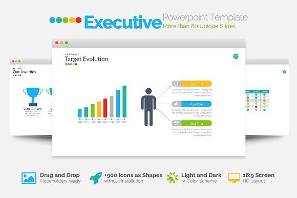 Executive powerpoint template presentation templates creative market toneelgroepblik
