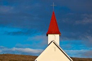 Typical Rural Icelandic Church under