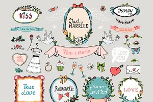 Wedding graphic set