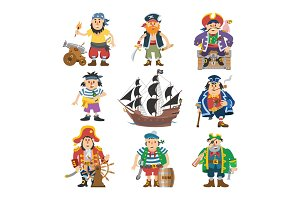 Pirate vector piratic character