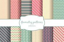 Seamless vector geometric patterns