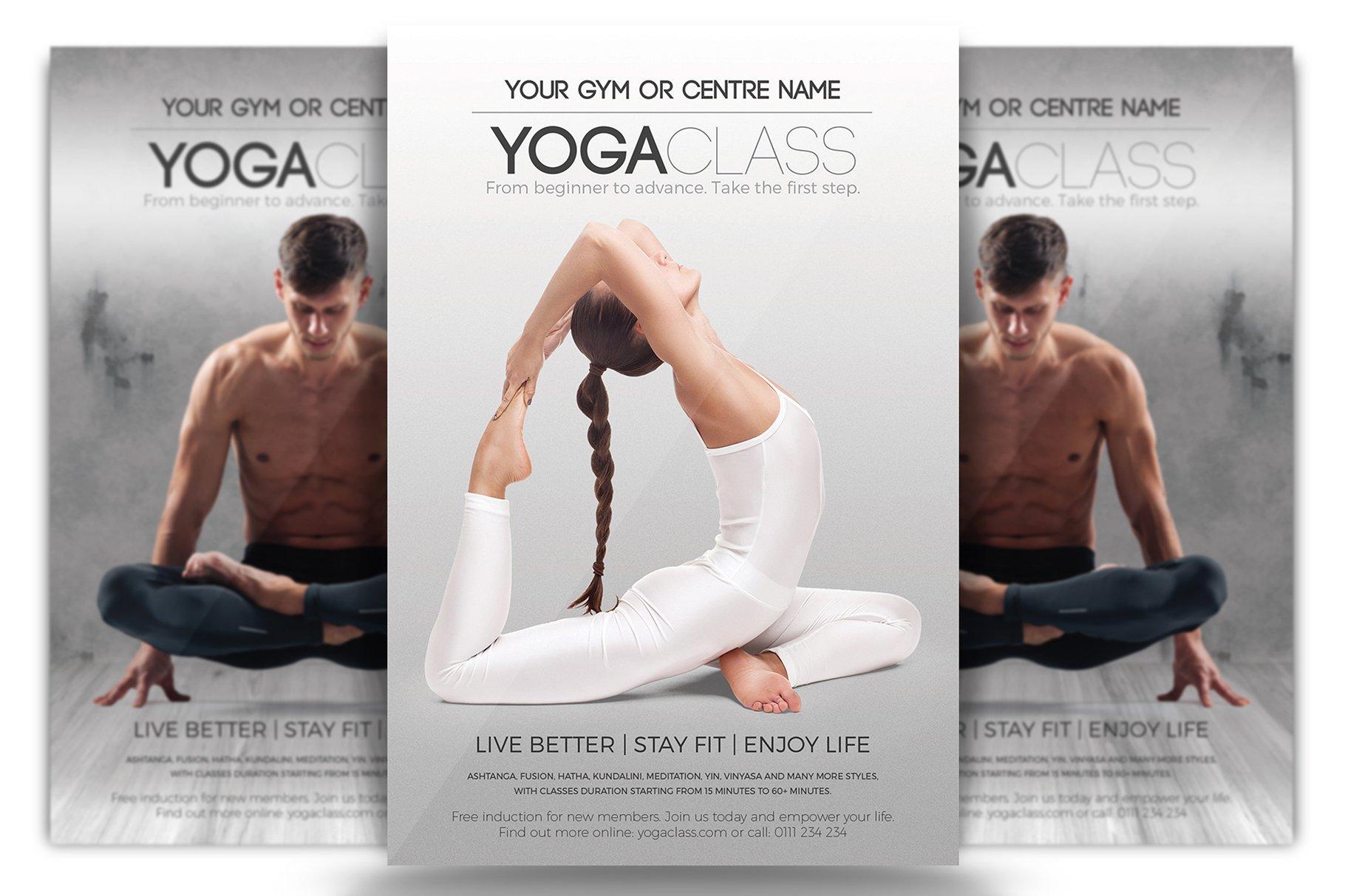 Yoga Class Flyer Template Creative Daddy