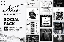 Noir Beauty - Social Pack by  in Social Media