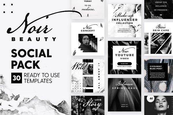 Social Media Templates: The Wedding Shop - Noir Beauty - Social Pack