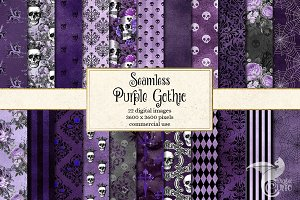 Seamless Purple Gothic Digital Paper