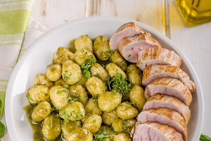 Pork tenderloin with herbs and spice