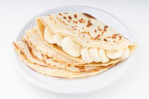 Crepes bio homemade, food photograph