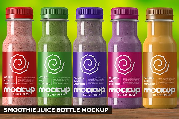smoothie juice bottle mockup product mockups creative daddy