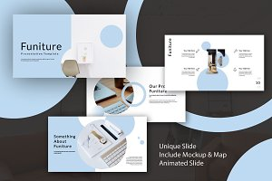 30%OFF- Funiture Powerpoint Template