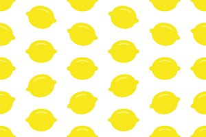 Seamless pattern with Lemon