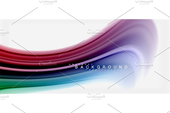 Rainbow fluid colors abstract in Illustrations