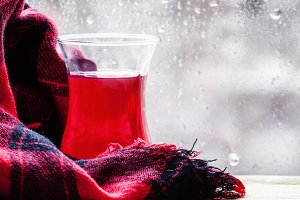 Red tea from China rose in the Islam