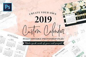 2019 Fully Editable Calendar Kit