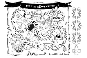 Coloring Game: Pirate Adventure