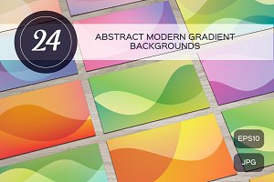 24 abstract modern gradient backgrou