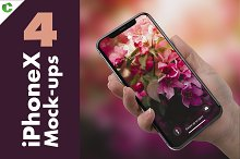 4 iPhone X Mock-ups