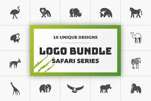 16 Safari Animals Logo Bundle