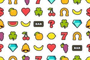 Slot machine symbols pattern