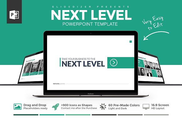 Next level powerpoint template presentation templates creative next level powerpoint template presentation templates creative market toneelgroepblik Gallery