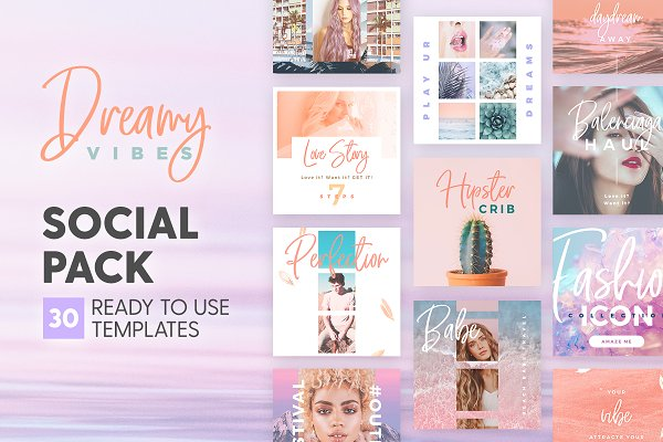 Templates: The Wedding Shop - Dreamy Vibes - Social Pack