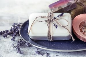 Spa still life with lavender