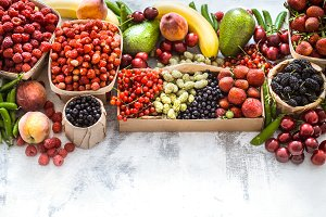 composition of different fruits