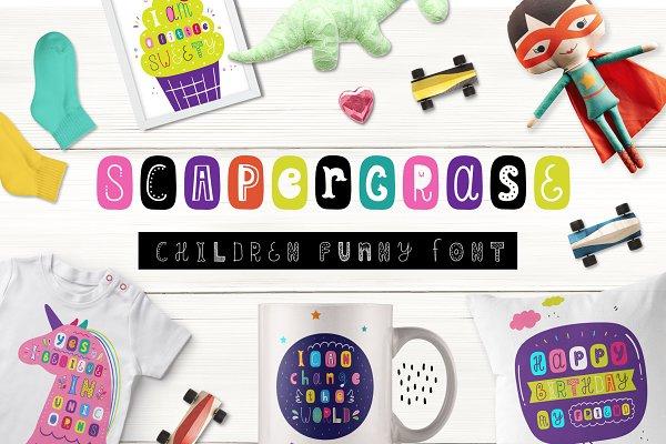 Scapegrace - Children Funny Font